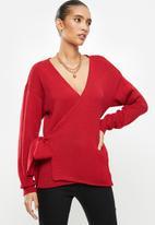Glamorous - Vneck jumper - red