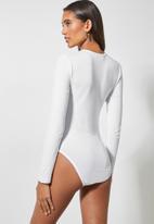 Superbalist - 2 Pack crew neck bodysuit - charcoal & white