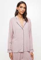 Superbalist - Sleep shirt & pants set - mocha