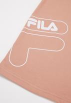 FILA - Big F short sleeve T-shirt dress - misty rose