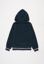 Aca Joe - Pre-girls bonded zip thru hoody - navy