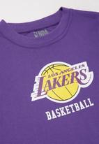 NBA - Lakers icon straight hem tee - purple