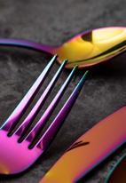Kitchen Craft - Mikasa 16pc stainless steel cutlery set - iridescent rainbow