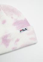 FILA - Lou tie dye beanie - white & purple