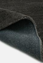 Sixth Floor - Shaggy round rug - charcoal