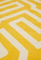 Sixth Floor - Maze printed runner - mustard yellow