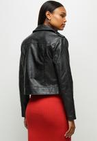 edit - Pu biker jacket - black
