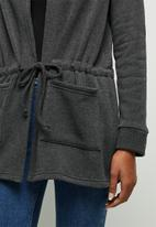 edit - Fleece  hooded jacket - charcoal