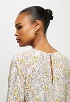 edit - V neck tiered midi dress - soft floral