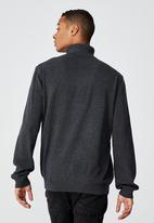 Cotton On - Roll neck sweater - charcoal