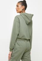 Blake - Cropped hoodie - sage