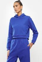 Blake - Cropped hoodie - blue