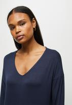 edit - Oversized knit jumpsuit - navy