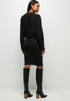 edit - Batwing dress - black