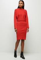 edit - Batwing dress - red