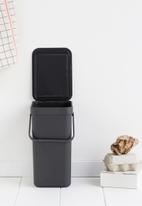 Sort & Go  - Waste bin 12 litre - black