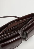MANGO - Layna bag - dark brown