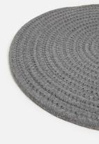 Sixth Floor - Rope placemat set of 4 - charcoal