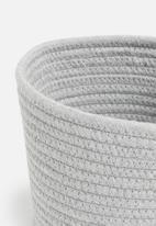 Sixth Floor - Cotton rope nursery organiser set of 2 - grey