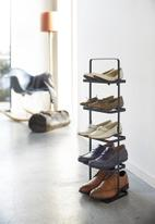 Yamazaki - Tower shoe rack - black