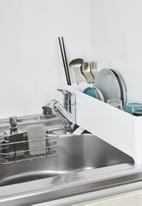 Yamazaki - Tower slim dish drainer - white