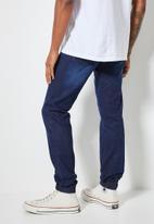 Superbalist - Cade slim cuffed jeans - dark washed blue