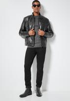 Superbalist - Jax pu biker jacket - black