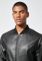 Superbalist - Nevada pu bomber jacket - black