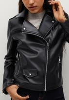 MANGO - Jacket liz - black