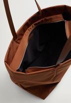 MANGO - Nylon shopper bag - brown