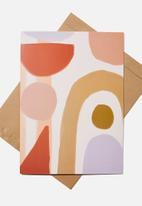 Typo - Large fashion card - abstract arches