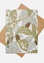 Typo - Large fashion card - foliage print