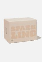 Typo - Large block candle - ecru sparkling!