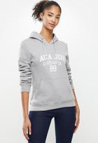 Aca Joe - Fleece pullover hoodie - grey