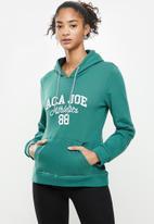 Aca Joe - Fleece pullover hoodie - green