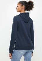 Aca Joe - Fleece pullover hoodie - navy