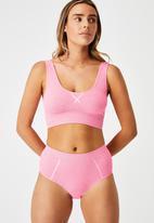 Cotton On - Seamfree mumdie bikini brief - primrose