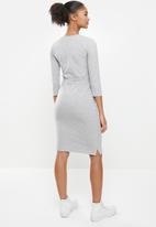 Aca Joe - Drawstring dress - grey