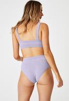 Cotton On - Seamfree mumdie bikini brief - periwinkle