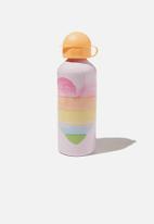 Cotton On - Aluminium drink bottle - watercolour heart lavender fog