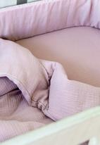 Phlo Studio - Muslin cot fitted sheet - dusty pink