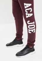 Aca Joe - Aca joe big logo jogger - burgundy
