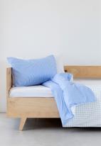 Phlo Studio - Gingham duvet cover set - blue & white
