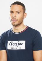 Aca Joe - Aca joe block T-shirt - navy
