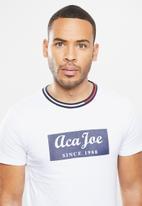 Aca Joe - Aca joe block T-shirt - white
