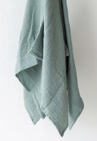 Phlo Studio - Muslin swaddle blanket - duckegg
