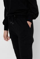 Jacqueline de Yong - Birmingham utility sweat pant - black