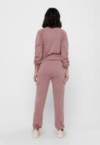 Jacqueline de Yong - Birmingham utility sweat pant - rose