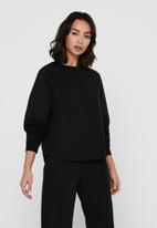 Jacqueline de Yong - Napa long sleeve raglan sweat - black