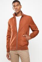 Jonathan D - Zip through jacket - rust